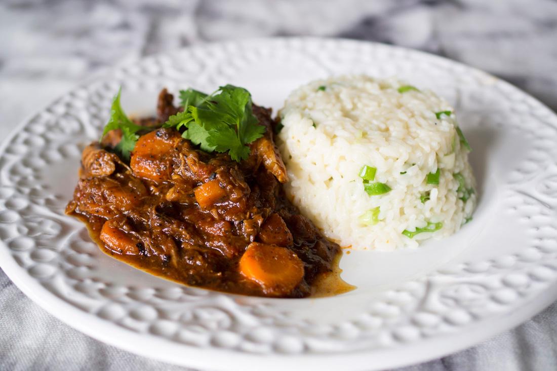Lammcurry med smörigt ris